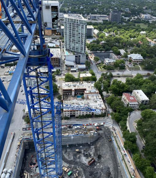 Erecting the Tallest Tower Crane in North America